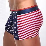 BCDshop American Flag Sexy Underwear Men's Boxer Briefs Bulge Pouch Underpants - 51vNO2Jv5 2BL - BCDshop American Flag Sexy Underwear Men's Boxer Briefs Bulge Pouch Underpants