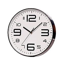 SonYo Indoor Big 3D Number Quartz Wall Decor Clock Quiet Sweep Movement Decorative Living Room 10 Blackedge