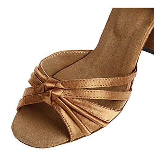 Miyoopark , Damen Tanzschuhe , braun - Brown-7.5cm heel - Größe: 35