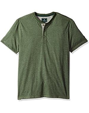 Men's Short Sleeve Carbonized Jersey Henley