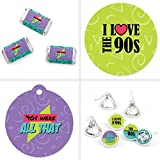 90's Throwback - 1990s Party Decorations Favor Kit - Party Stickers & Tags - 172 pcs