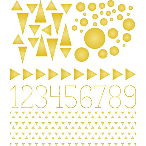 """Triangles Stencil - (size 6.5""""w x 6.5""""h) Reusable Wall Stencils for Painting - Best Quality Template Allover Wallpaper ideas - Use on Walls, Floors, Fabrics, Glass, Wood, and More…"""