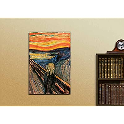 The Scream by Edvard Munch - Canvas Art Print
