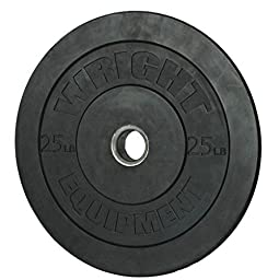 Wright 25 Lb Solid Rubber Bumper Weights - Great  Cross Training & Olympic Lifting - Sold in Pairs