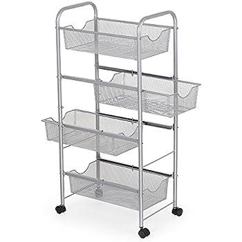 Nex storage cart organizer with drawers - Bathroom storage cart with wheels ...