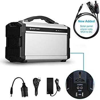 ACOPOWER 220Wh Portable Solar Generator for Camping, 60,000mAh Lithium Ion Battery with AC/DC Inverter; Power Bank USB/5V DC/12V AC 110V; Input: AC, Car & Solar Panel