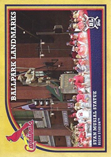 2018 Topps Big League Baseball Gold Parallel #362 Stan Musial Statue St. Louis Cardinals