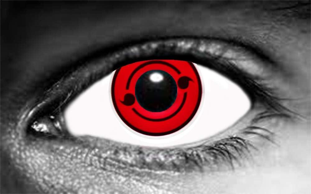 Par de lentes de contacto Sharingan de dos tomoe (sin corrección)