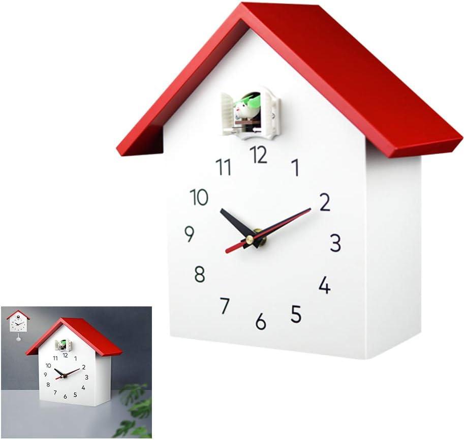 Birdhouse White Modern Cuckoo Clock,Quartz Wall Clock,Traditional ...
