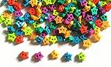 200 Pcs Cute Tiny Star Button Size 4mm Mix Color