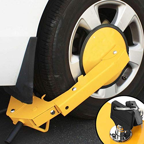 NOPTEG ATV RV Car Tire Claw Wheel Clamp Boat Truck Trailer Lock Anti Theft Parking Boot Theft Devices Foldable Vehicle Lock for Car