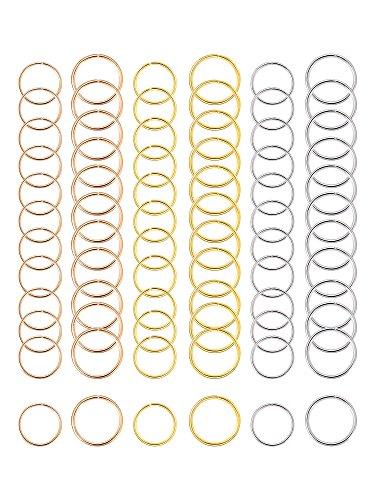 Hicarer 180 Pieces Hair Rings Braid Rings Hair Hoops Hair Loop Clips, 3 Colors, 2 Sizes