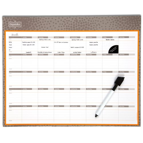 Mead Organizher Write 'N Wipe Monthly Undated Dry-Erase Calendar, 15 x 12 Inches, Purple (98119PRPL)