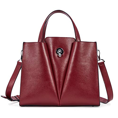 BOSTANTEN Genuine Soft Leather Handbags for Women Tote Shoulder Purse Crossbody Bags