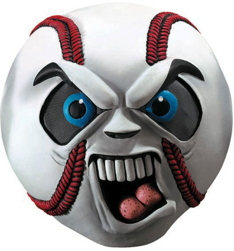 Sports Fanatic Halloween Costume (Hardball Scary Baseball Mask)