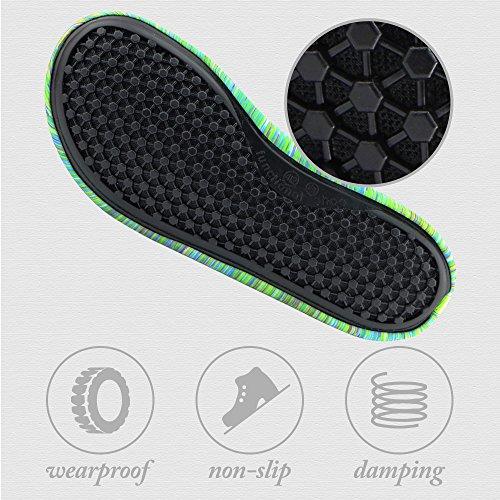 Donder Unisex Blootsvoets Huid Schoenen Polyester Sokken Voor Yoga Oefening, Gym, Buiten Lopen, Strand Watersport Groen