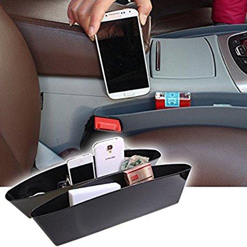 Opar Black Car Seat Side Pocket Caddy Car Seat Slit Pocket Catcher Organizer - Pair