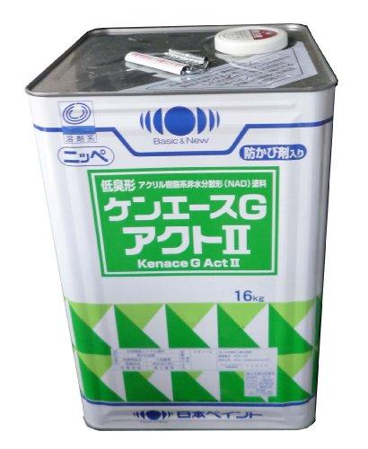 日本ペイント ケンエースGアクトⅡ オーカー 16kg B003523SFO 16kg|オーカー