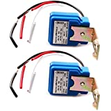 2 Pack - AC DC 12V 10A Auto On Off Photocell Light Switch Photoswitch Light Sensor Switch