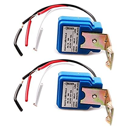 2 pack ac dc 12v 10a auto on off photocell light switch photoswitch light sensor switch Photocell Wiring Guide