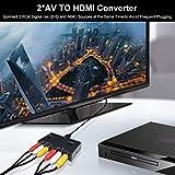 2 AV to HDMI, 1080P/720P 2 Way RCA Composite CVBS