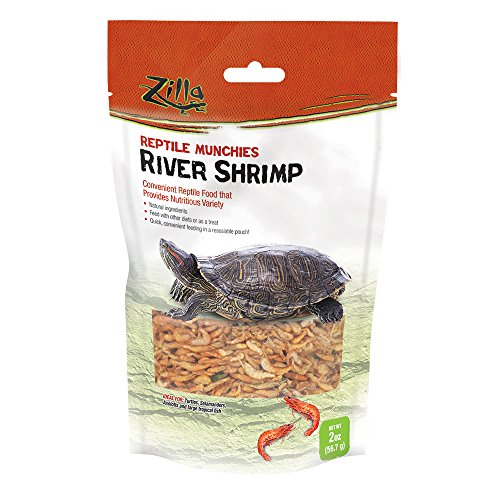 (Zilla Reptile Food Munchies River Shrimp, 2-Ounce)