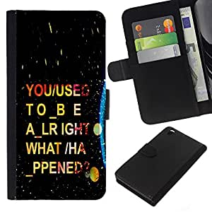 NEECELL GIFT forCITY // Billetera de cuero Caso Cubierta de protección Carcasa / Leather Wallet Case for HTC DESIRE 816 // Psychedelic Guión