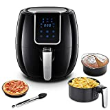 AAOBOSI Air Fryer, Digital Air Fryer, 3.7 Qt, 1500 Watts, Big LED Display with Sensor Touch Control, Extra Free Accessories, Washable Basket and Pan For Sale