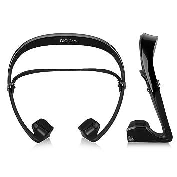 HAMSWAN® Wireless Bluetooth NFC auriculares estéreo conducción ósea Auriculares con micrófono integrado para Smartphone Tablet