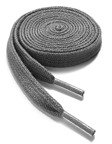 t Athletic 48 inch Dark Grey Shoelaces - High Durability Shoe and Sports Shoelaces 2 Pair Pack ()