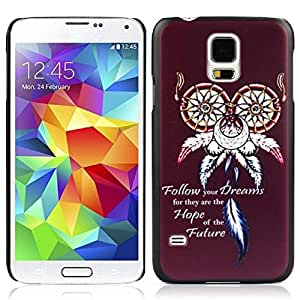 2015 customized Tonsee Unique Special Case for Samsung Galaxy S5 I9600 G900 (Dream Catcher Owl)