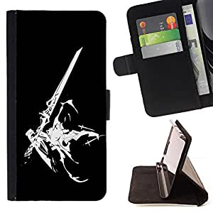 For Samsung Galaxy S3 III I9300 Sci Fi Sword Leather Foilo Wallet Cover Case with Magnetic Closure