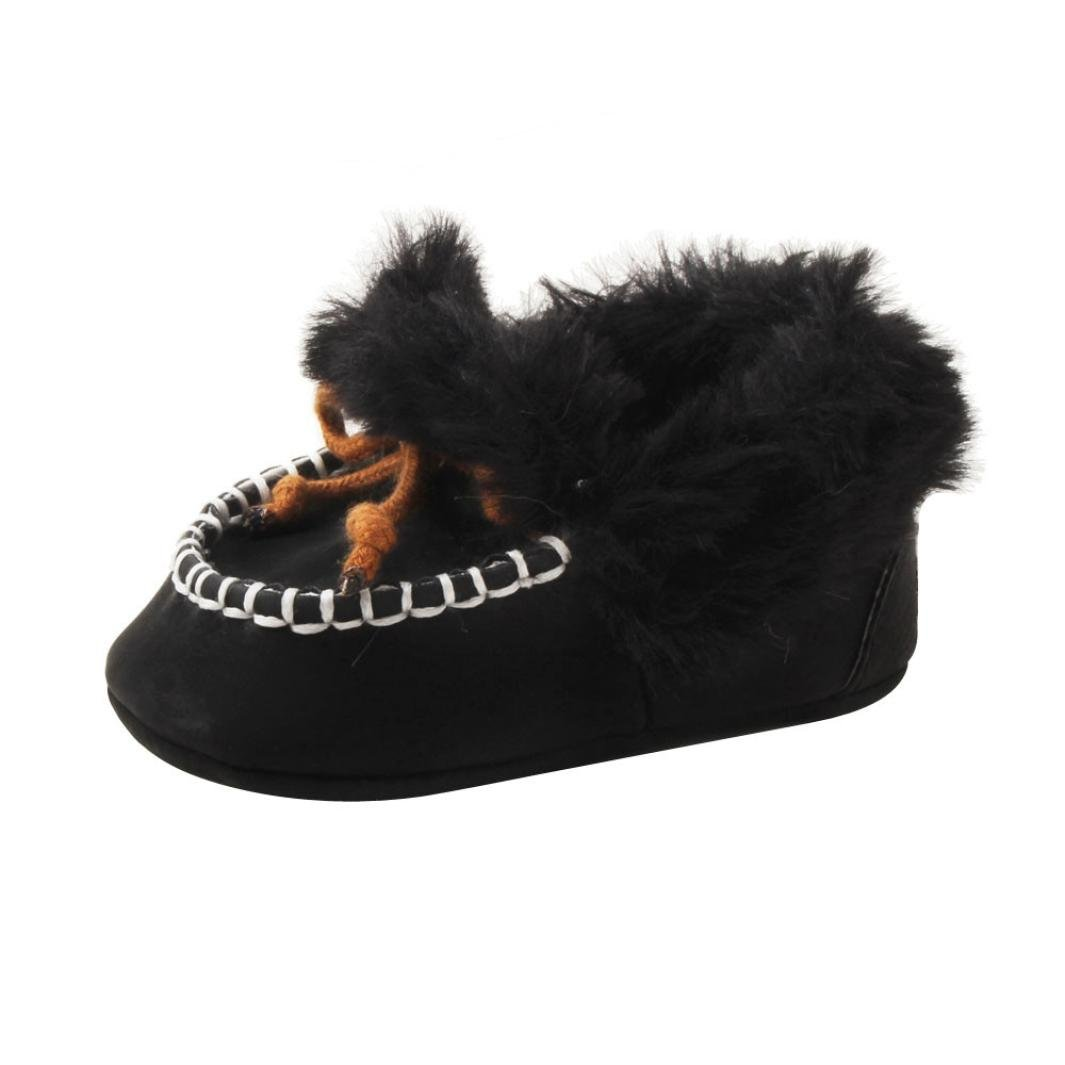 Voberry Infant Baby Girl Boy Soft Warming Shoes Toddler Fleece Furry Boots