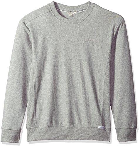 Jumper Trim (Calvin Klein Jeans Men's Thicker Rib Trim Basic Crew Neck Sweatshirt, Soft Grey Heather, L)