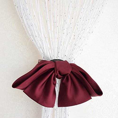 (Decorative Door String Curtain Beads Ribbon Thread Fringe Window Panel for Wedding Decoration/Coffee House/Birthday party (White))