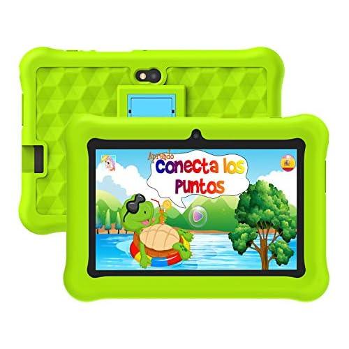 chollos oferta descuentos barato Tablet para Niños con WiFi 7 Pulgadas Android 10 Certificación Google Tableta Infantil 2GB RAM 32GB ROM y Juegos Educativos