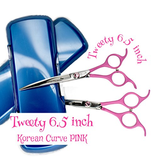 Face Tweety (MalteseObsession Tweety Korean Extreme Curved Shears 6.5 inch - Professional 6.5