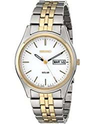 Seiko Mens SNE032 Two-Tone Stainless Steel Solar Watch