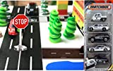 Matchbox NYC Police City builder Set miniature road signs & Road play tape Black & White Roll City Scene Collection trees and 5-pack police vehicles offers