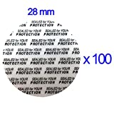 28 mm Bottle/Jar Pressure Foam Safety Tamper Resistant Seals Qty 100