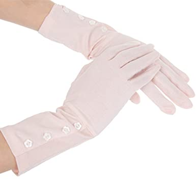 Pink Kenmont Women Summer Sun UV Protection Cotton Outdoor Driving Gloves