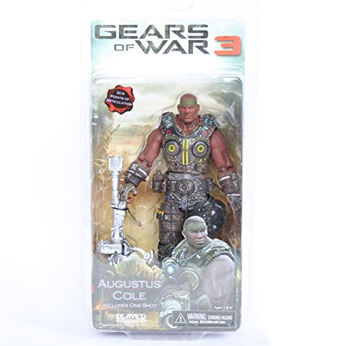 Gears of War 3 Series 2 7 inch Augustus Cole - One Shot Action Figure from Gears of War