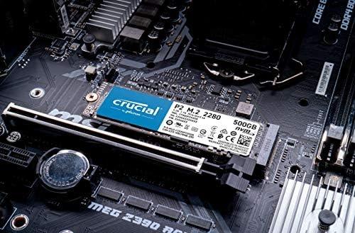 Crucial P2 500GB 3-D NAND NVMe PCIe M.2 SSD Up to 2400MB/s - CT500P2SSD8