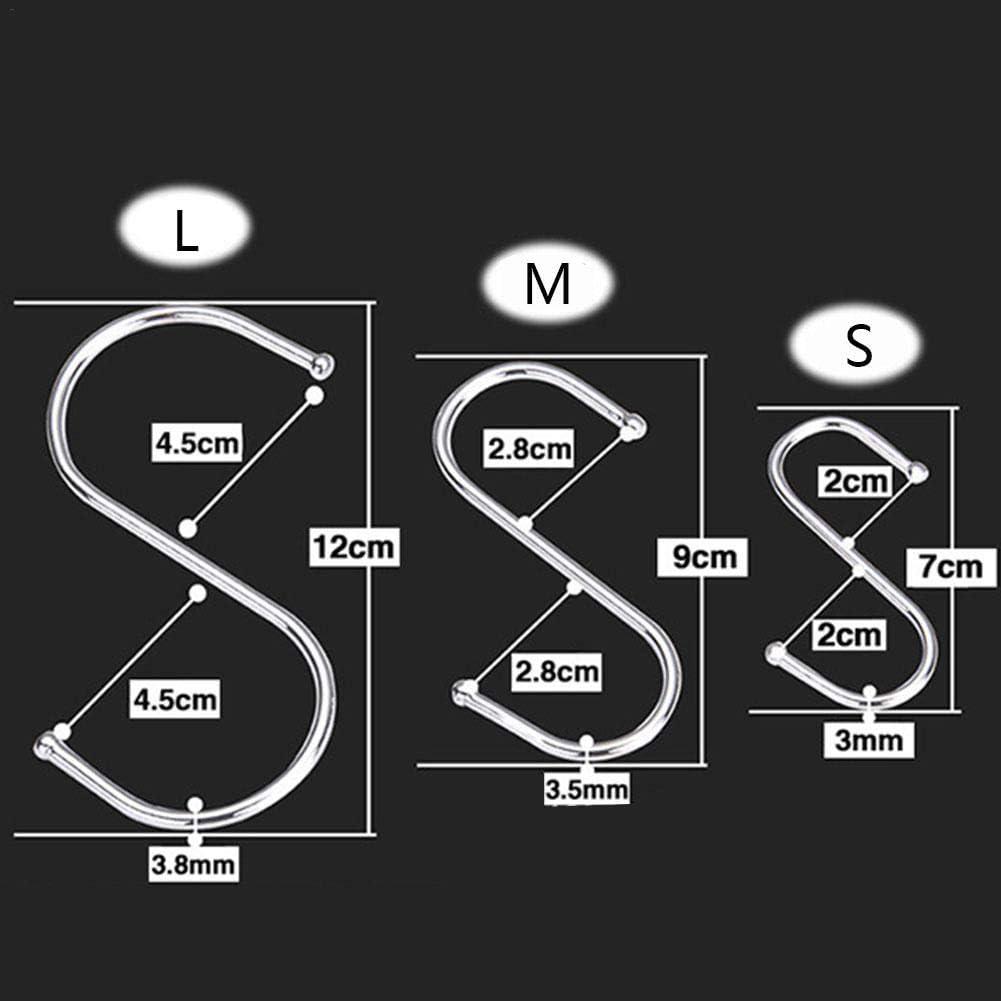 30er Pack S-Form Haken zum Aufh/ängen 9 cm Kleiderb/ügel f/ür K/üche Bad Schlafzimmer und B/üro