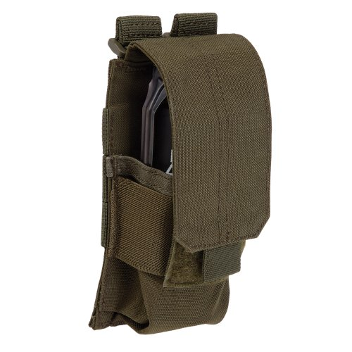 Tactical Flash Bang Pouch, Standard Grenade Holder, SlickStick/MOLLE Compatible, Style 56031 ()