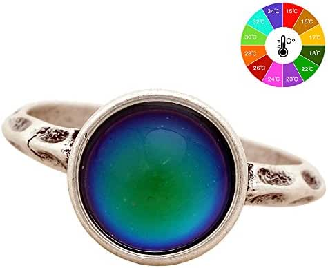Mojo New Fashion Ring Style Fashion Vintage Round Stone Retro Color Change Ring For Women MJ-RS002