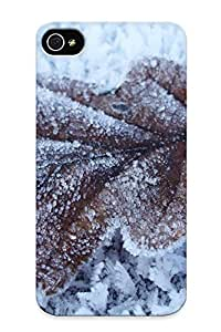 Case For Iphone 4/4s Tpu Phone Case Cover(frozen Leaf) For Thanksgiving Day's Gift