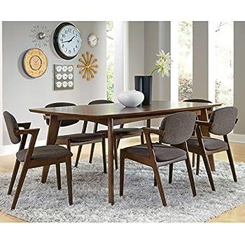coaster home furnishings dining table dark walnut