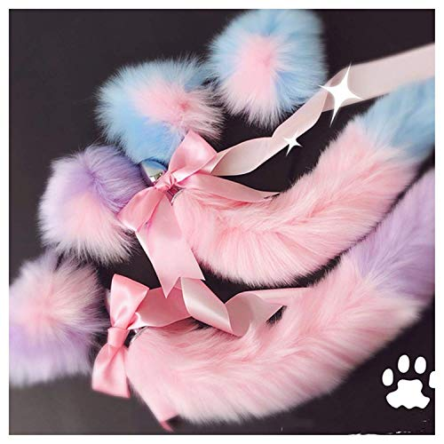 Women Viberate Toys Būtt Play Plug Women Toys Cute Soft Cat Ears Headbands with T-àil Bow Metal Būtt A-nàl Plug Erotic Cosplay Accessories Adult Happy Toys for Couples,White Black,T-Shirt by BJYC (Image #2)
