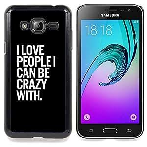 Stuss Case / Funda Carcasa protectora - Cita Crazy Life Negro Blanco - Samsung Galaxy J3 GSM-J300